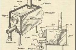 Схема дровяной печи
