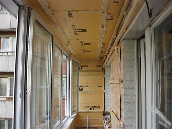 Как на лоджии сделать потолок 398