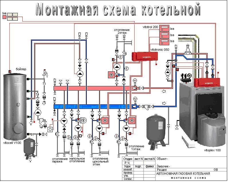 Монтажная схема котельной