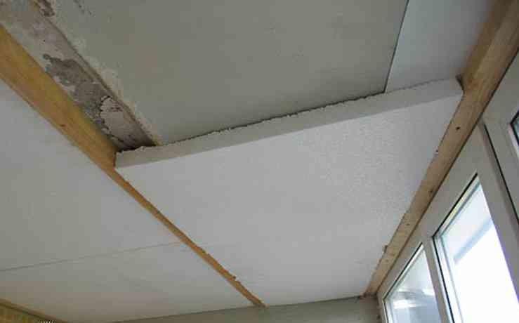 Схема среза стены, утепленной пенопластом