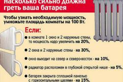 Руководство о выборе необходимой мощности радиаторов