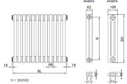 Схема биметаллического радиатора