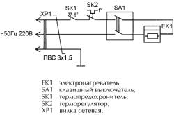 Схема электрическая калорифера