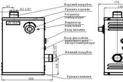 Схема электрического котла отопления