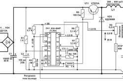 Схема контроллера для солнечной батареи