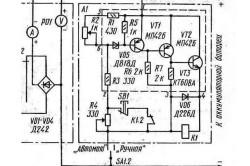 Схема контроллера заряда солнечной батареи