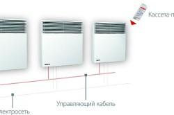 Схема монтажа настенного электроконвектора