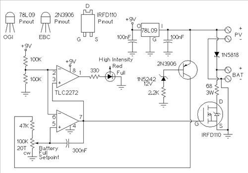 самодельный контроллер заряда на солнечный модуль
