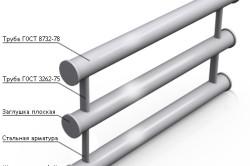 Схема секционного регистра из стальных труб