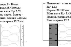 Схема установки утеплителя - вариант 1