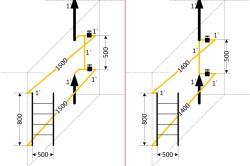 Схема вариантов подключения полотенцесушителя