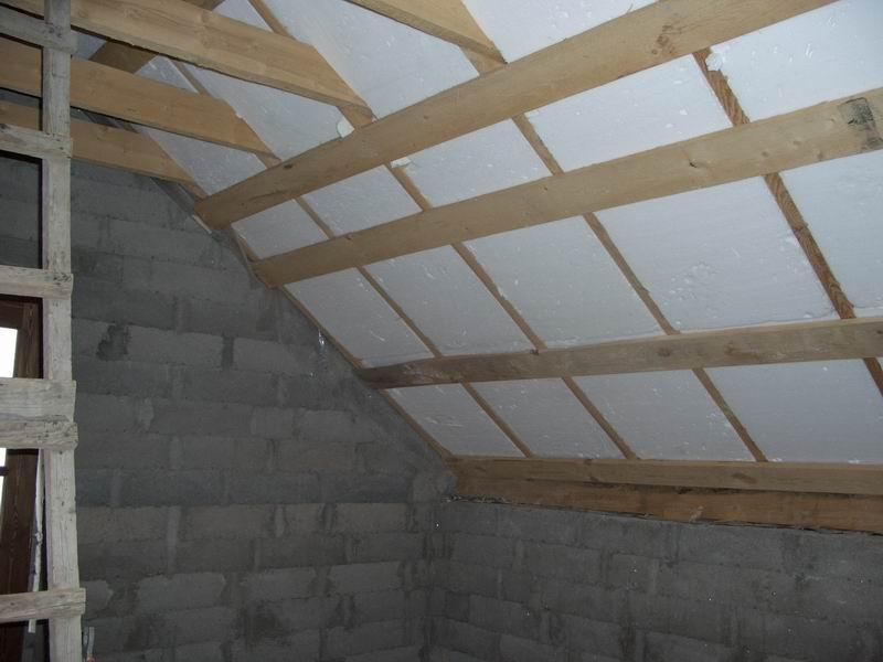 Утепление потолка дома