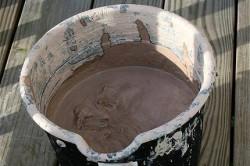 Нетрадиционная смесь из глины