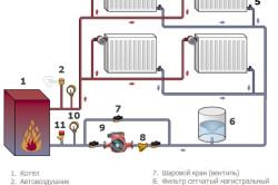 Схема двухуровневой системы отопления