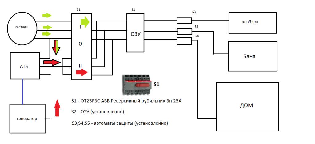 Схема подключения однфазного