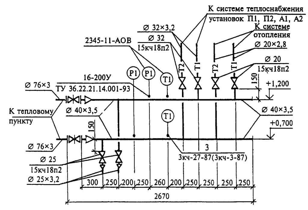 Пример выполнения схемы узла
