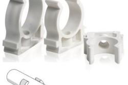 Пластиковые клипсы для крепления труб