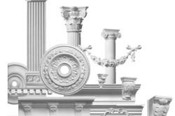 В магазинах имеются художественные элементы, которые имитируют лепнину и декор, созданные для фасадов.