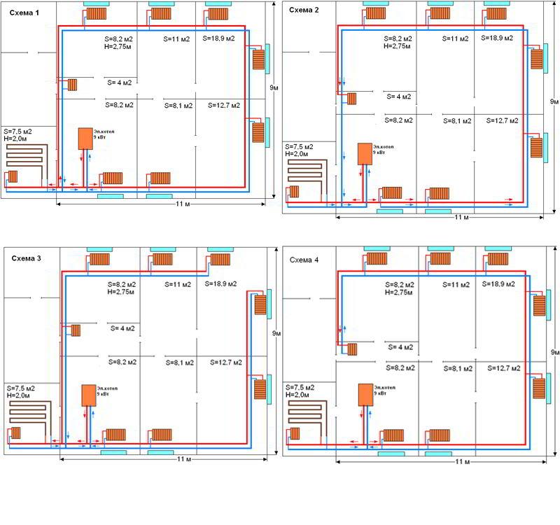 Монтажные схемы домов