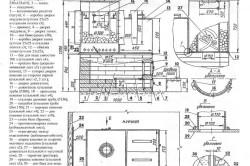 Схема строительства печи для бани.