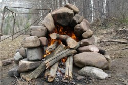 Печь для походной бани