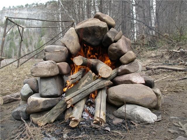Печь для бани на природе своими руками