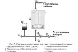Монтаж системы отопления (схема).