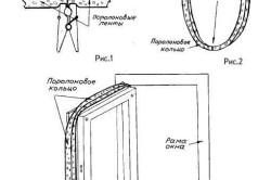 Схема утепления деревянного окна