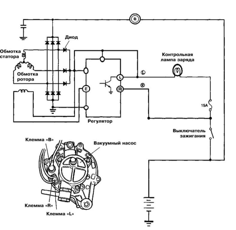 Схема подключения генератора и