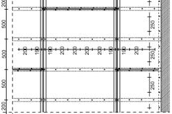 Схема дистанций между стропилами потолочного перекрытия.