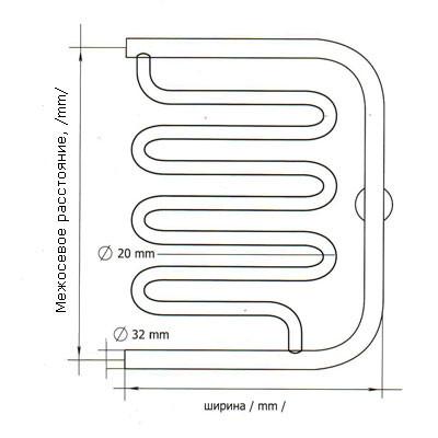 Схема электросварного полотенцесушителя.
