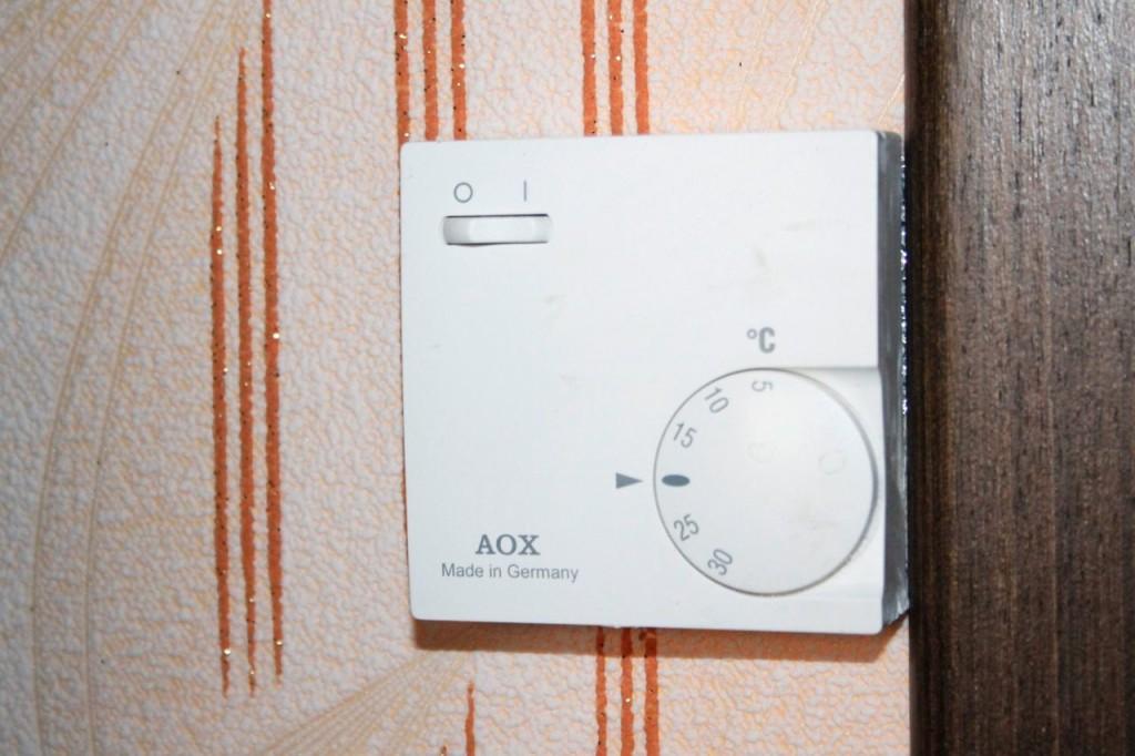 Обязательно устанавливайте терморегулятор согласно инструкции.
