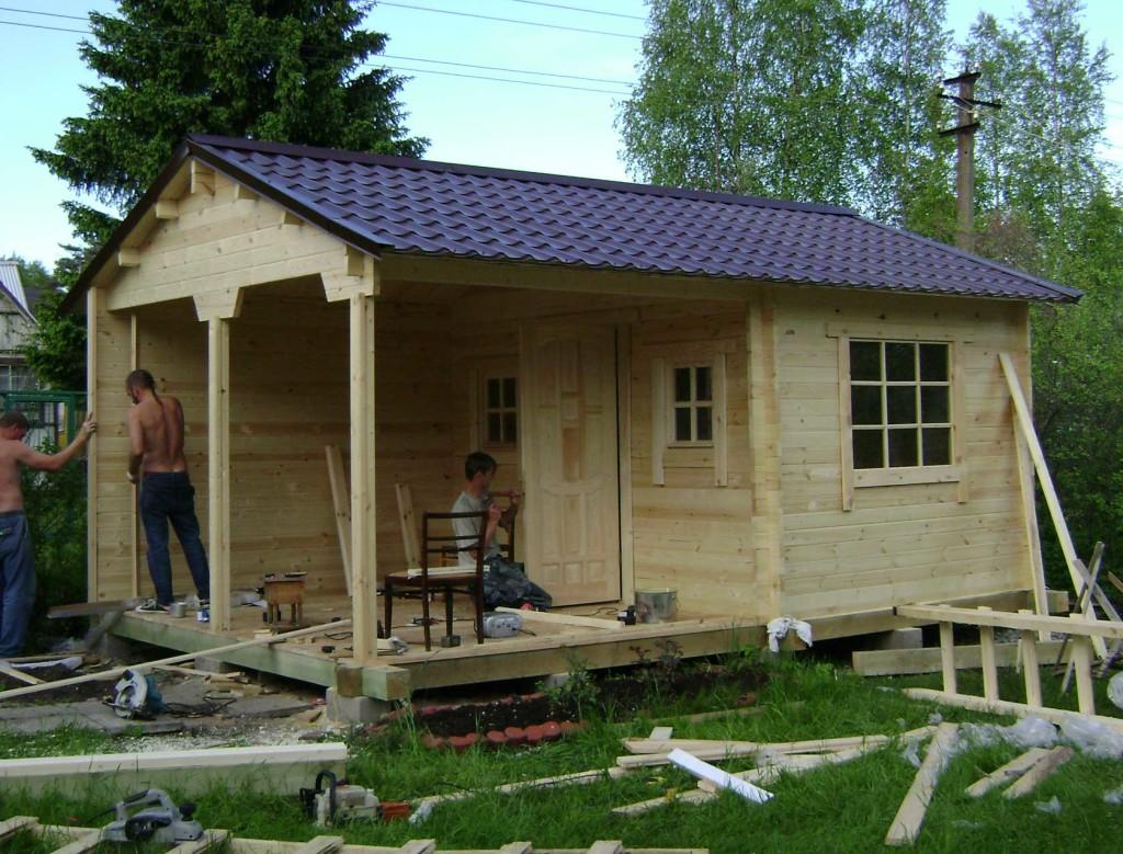 Строительство домика на даче
