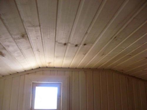 Утепление настильного потолка в бане