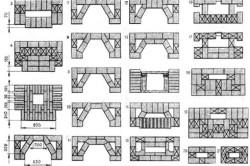 Схема порядовки камина