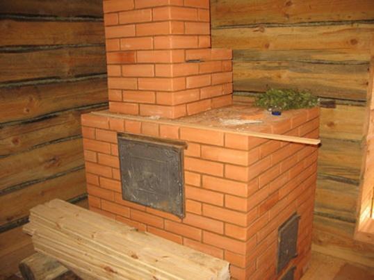 Печка в баню - конструкция довольна-таки массивная