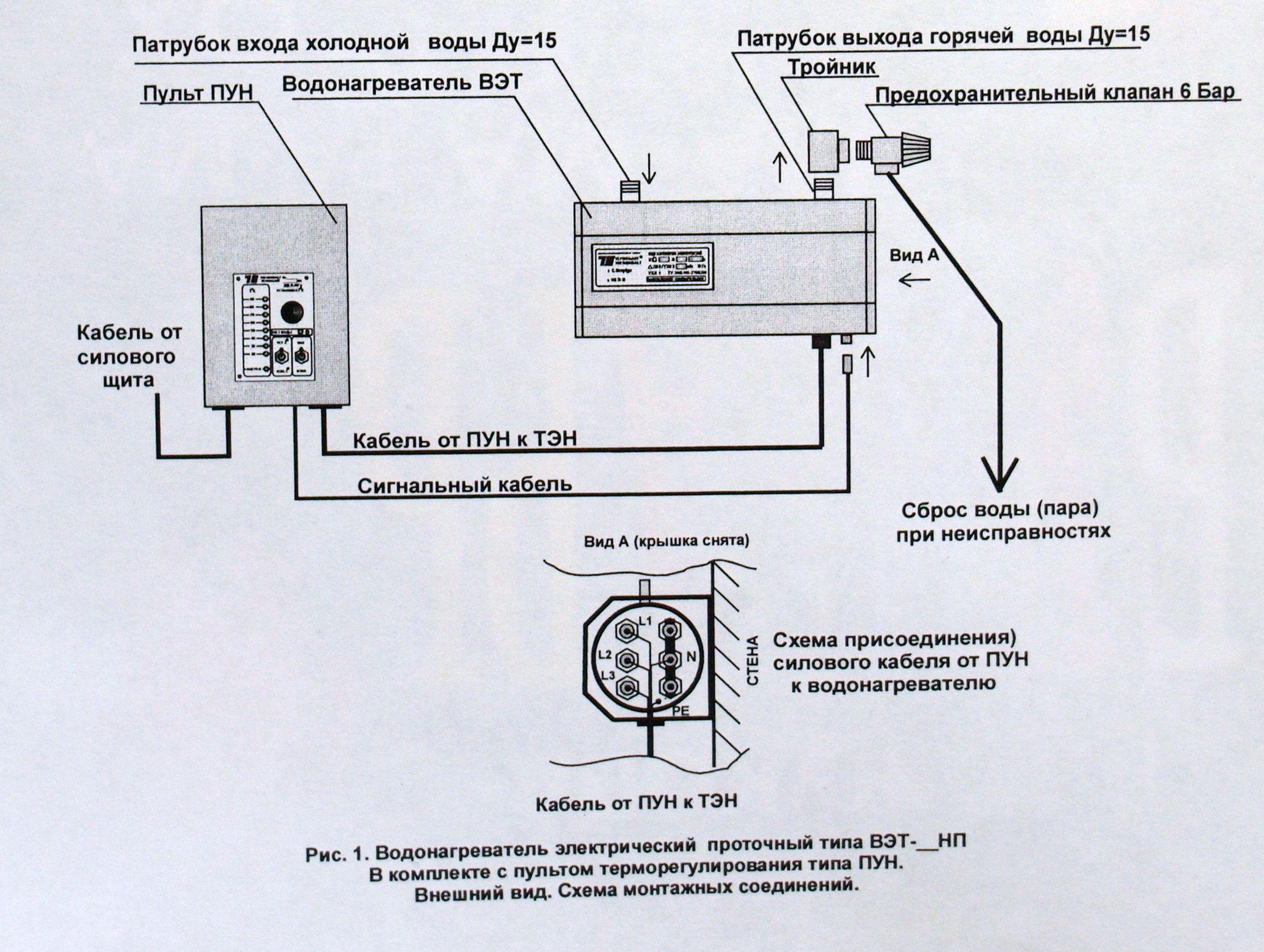принципиальная схема проточных водонагревателей