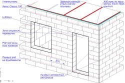 Схема армирования стен.