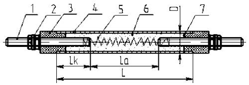 Схема трубчатого ТЭН.