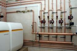 Медный трубопровод для парового отопления