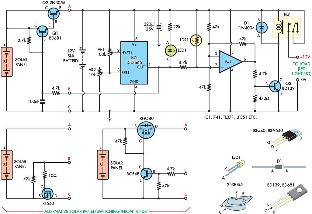 Схема светильника на солнечной батареи своими руками фото 862